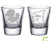 Final Fantasy - Chocobo / Black Mage Etched Shot Glasses featured image