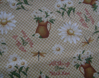 All Things Grow With Love Cotton Fabric by the yard