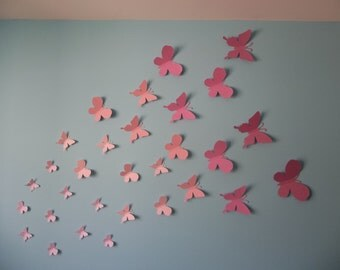 3D Butterfly Wall Decoration - 3D Butterfly wall art - 30 Pieces