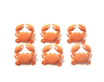 Crab Buttons Jesse James Buttons Ocean View Dress It Up Set of 6 Shank Back Salmon Color - 746