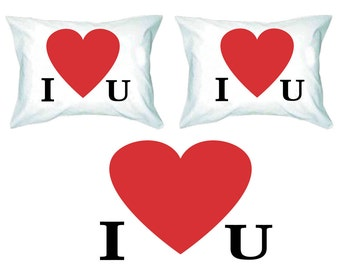 Couples Pillow Cases I Love You His and Hers Pillow Case Set Wedding Gift