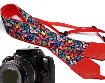 Butterfly camera strap. DSLR Camera Strap. Camera accessories. Nikon Canon camera strap.