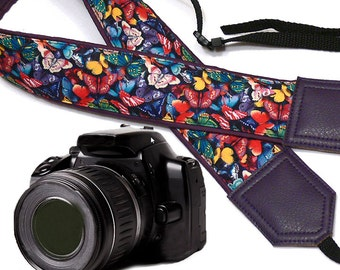 Butterflies camera strap. DSLR/ SLR Camera Strap. Camera accessories by InTePro