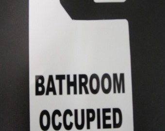 Bathroom Door Signs Vacant vacant occupied sign | etsy