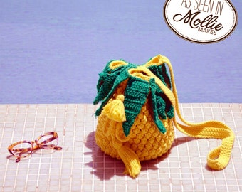 Pineapple Brasiliana Crochet Bag