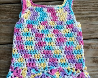 Crochet Newborn Cotton Dress