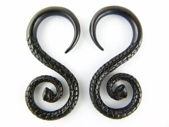 serpent plugs 6g earring 6 snake