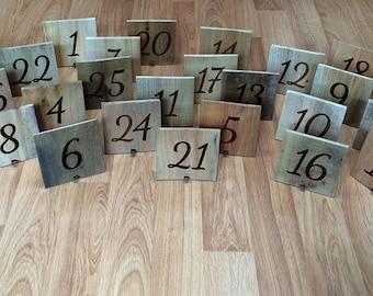 Rustic Pallet Wood Table Numbers