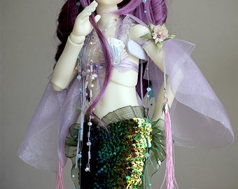BJD Clothes -  Little Mermaid ( for MSD bjd doll, Little Gem)