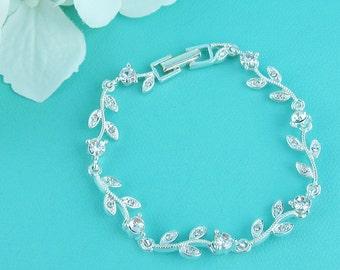 Rhinestone Vine Bridal bracelet, wedding bracelet, rhinestone crystal bracelet, crystal bracelet, bridal jewelry, wedding bracelet 230854487