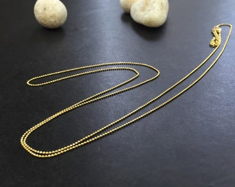 Military chain 1mm 32in 18k Goldfilled necklace  AP1123