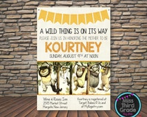 wild things baby shower invitation where the wild things are
