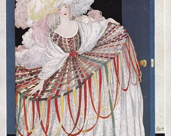 Vogue Magazine Cover 1920 art deco art nouveau home decor print fine art fashion vintage from 1981