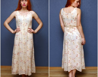 Vintage Flowery Summer Dress from 'Dorothy Perkins' with buttons on the front. Size Small S/ XS