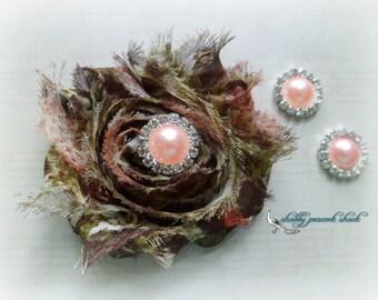 Pink Pearl Metal Rhinestone, 15 mm DIY Bridal Invitation Supplies Rhinestone Wholesale Brooch Bouquet Headband Supplies Wedding Jewels Bulk
