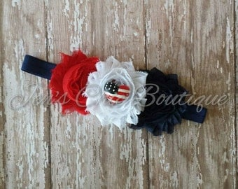4th of July elastic infant, toddler, or adult size headband