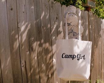 Camp Girl Tote Bag