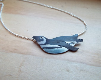 Sterling Silver Magellanic Penguin Necklace
