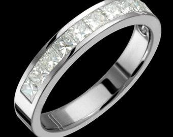 4.5mm Titanium & Diamond Semi Eternity Band Custom Made