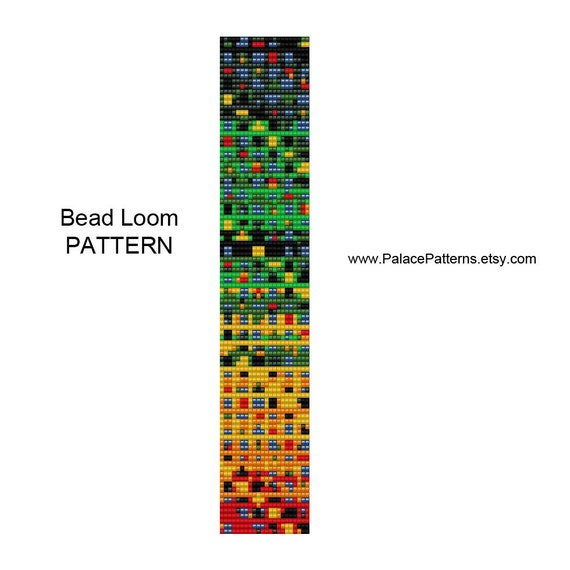How To Make A Small Basket Weave Loom Bracelet : Bead loom bracelet pattern pp