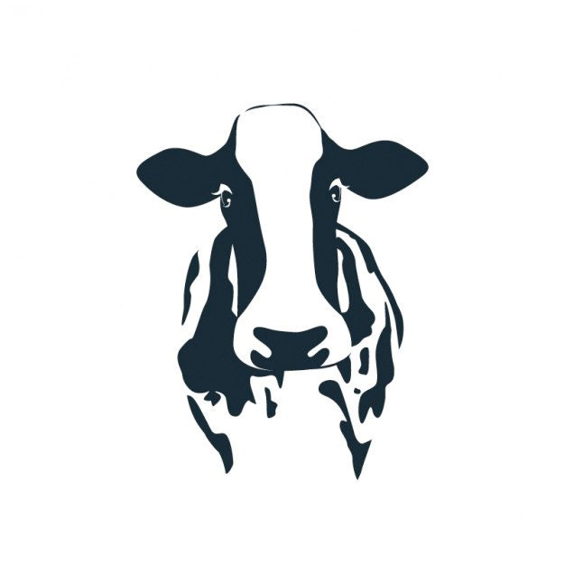 Dairy Cow Head Silhouette Popular items for dairy cow on etsy
