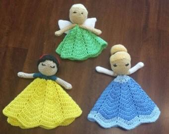 Tinkerbell, Snow White, Cinderella lovey
