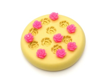 Flower, Rose  Mold Mould Resin Clay Fondant Wax Soap Fimo Cabochon Kawaii Flexible Silicone Mold