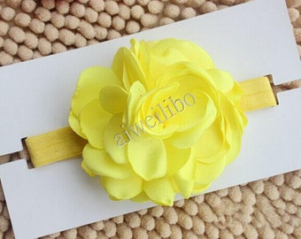 Fabric Flower Headbands, Flower Headband, Baby Girl Headband