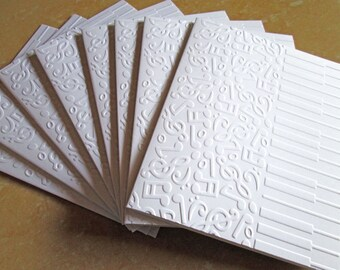 Piano Embossed Cards, Music Lovers Cards, Note Cards, Blank Notecards, Stationery, Thank You Cards, Note Card Set, Embossed Notecards