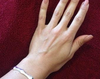 Bamboo Bangle/Bracelet Silver