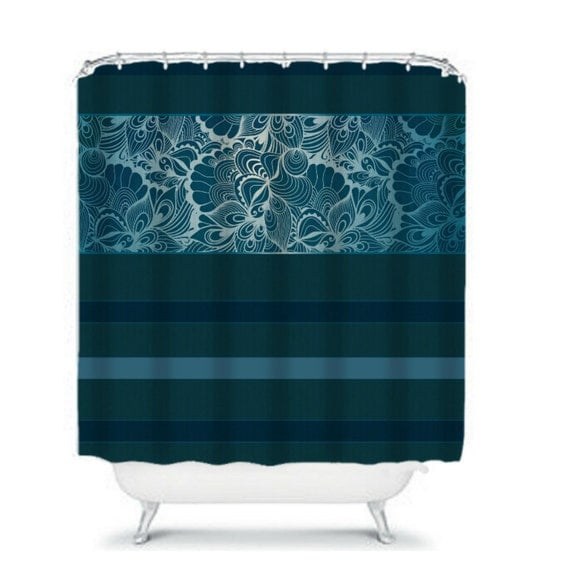 Items Similar To Shower Curtain Dark Teal Lace On Etsy