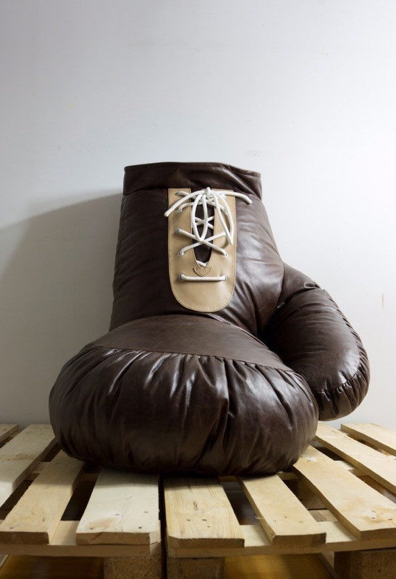 Vintage Look Leather Boxing Glove Chair Bean Bag By Ornald