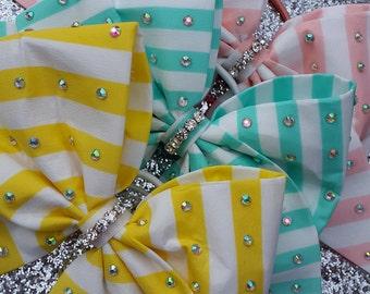 Sherbet pink lemon and mint bows