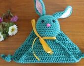 HANDMADE Crocheted Bunny Blankey. Bunny Lovie. Bunny Blanket. Baby Blankey. Baby Gift. For Him. For Her.