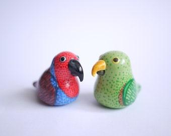 Eclectus parrot ornament
