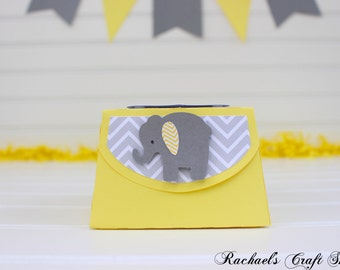Yellow and Grey Elephant Favor Boxes