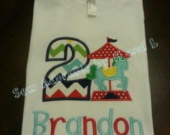 Carousel Birthday Shirt - Boys' carousel Birthday Shirt
