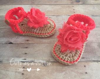 2 FOR 25!! baby girl crochet sandals, crochet flip flops, simply summer sandals, crochet summer sandals, flower crochet sandals
