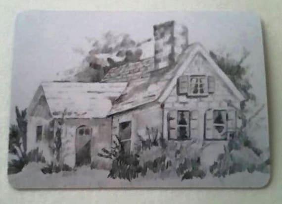 maison de campagne aceo crayon dessin imprimer par rkduffyart. Black Bedroom Furniture Sets. Home Design Ideas
