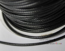 7 Yards 2mm Black Wax Cords, Environmental Protection Wax Cords WS228