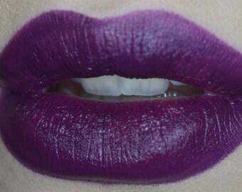 Eggplant DNA Lipstick- Intense Pop of Color Dark Purple Lipstick- Semi Matte