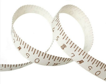 Decorative fabric ribbon tape measure (per meter)