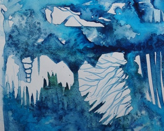 One of a Kind, Original Watercolor Painting