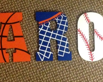 Sports letters for children's room/nursery
