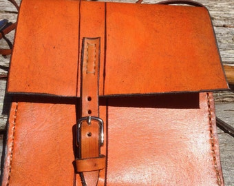 Leather Mini Messenger Bag (13A)