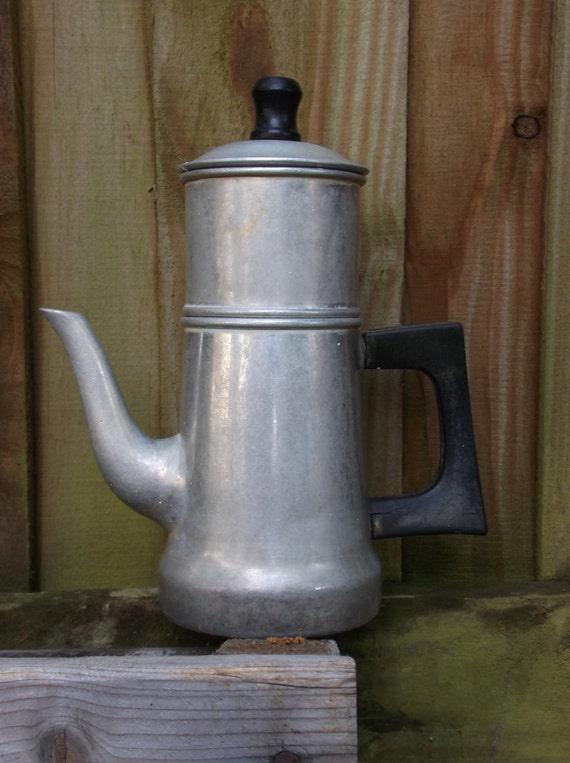 Mirro Percolator Coffee Maker : Mirro Aluminum Mini Drip Vintage Coffee Maker 1950 s Retro