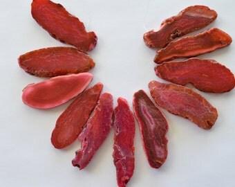 Bright Pink Agate Slice Pendant, Agate Slice Briolette, Large Agate Slice, Agate Geode Slice Pendant, Stone Pendant, Large Focal (B)