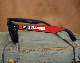Georgia Bulldogs Black Wayfarer Sunglasses
