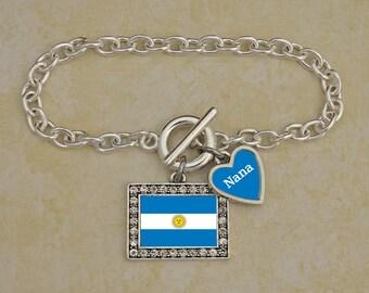 Custom Family Argentina Bracelet - FLAGAR54591
