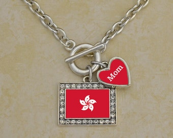 Custom Family Hong Kong Necklace - FLAGHK54590